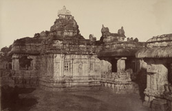 Purudkul. View of the temple from the south-east. [Virupaksha Temple, Pattadakal.]